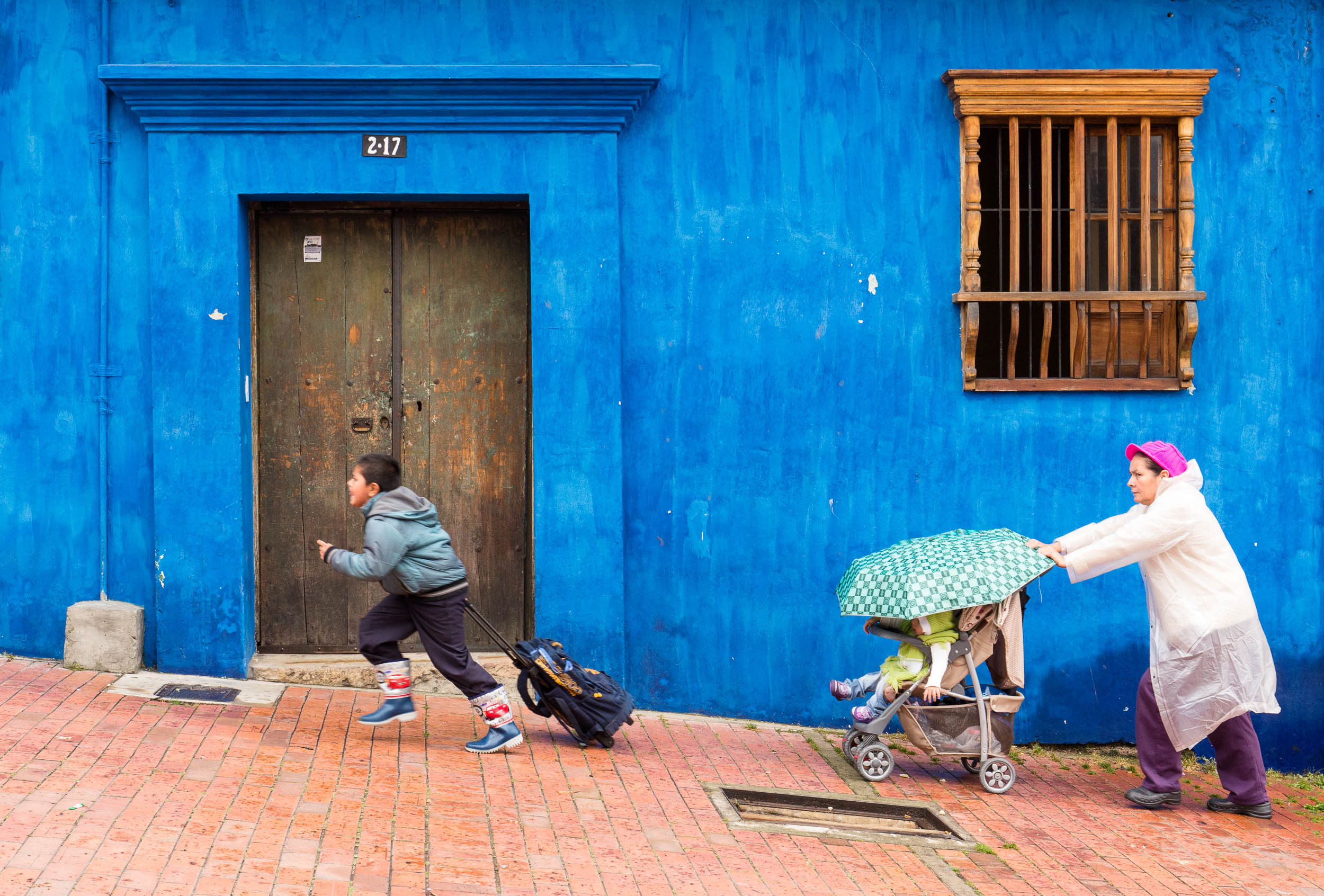 Colombia-Bogota-Blue-Wall-Angle