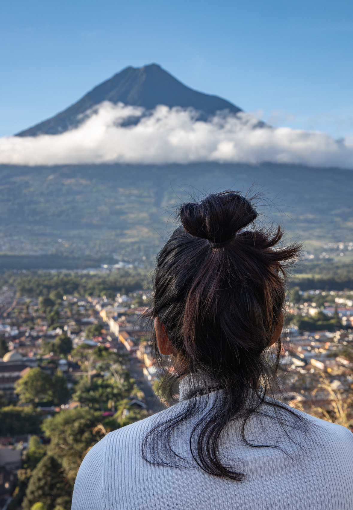 Guatemala-Antigua-Volcano-Girl-Hair